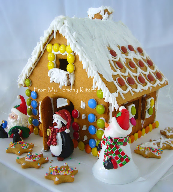 gingerbread house and lollies