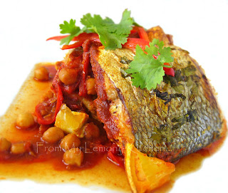 Moroccan Fish with Chickpeas and Coriander