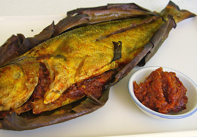 Grilled fish with Chilli stuffing...