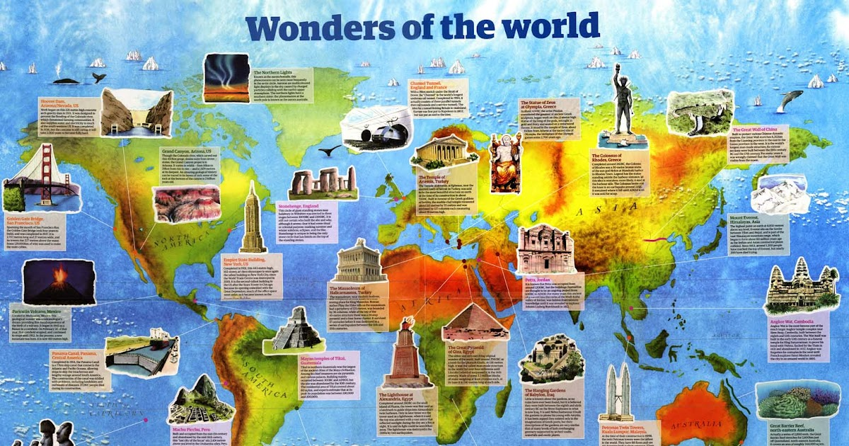 Hand Made Maps Ltd: 28 Wonders of the World