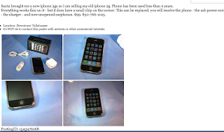 Florida Coal Cracker Chronicles: Our Old IPhone Sold In Less
