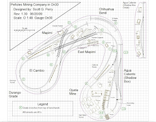 Peñoles Mining Company in On30: Finished The Track Plan! Ole!