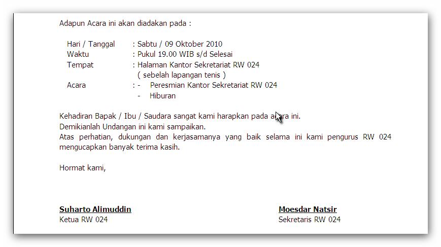 Contoh Surat Undangan Pembukaan Mtq Souvenir Undangan Pernikahan
