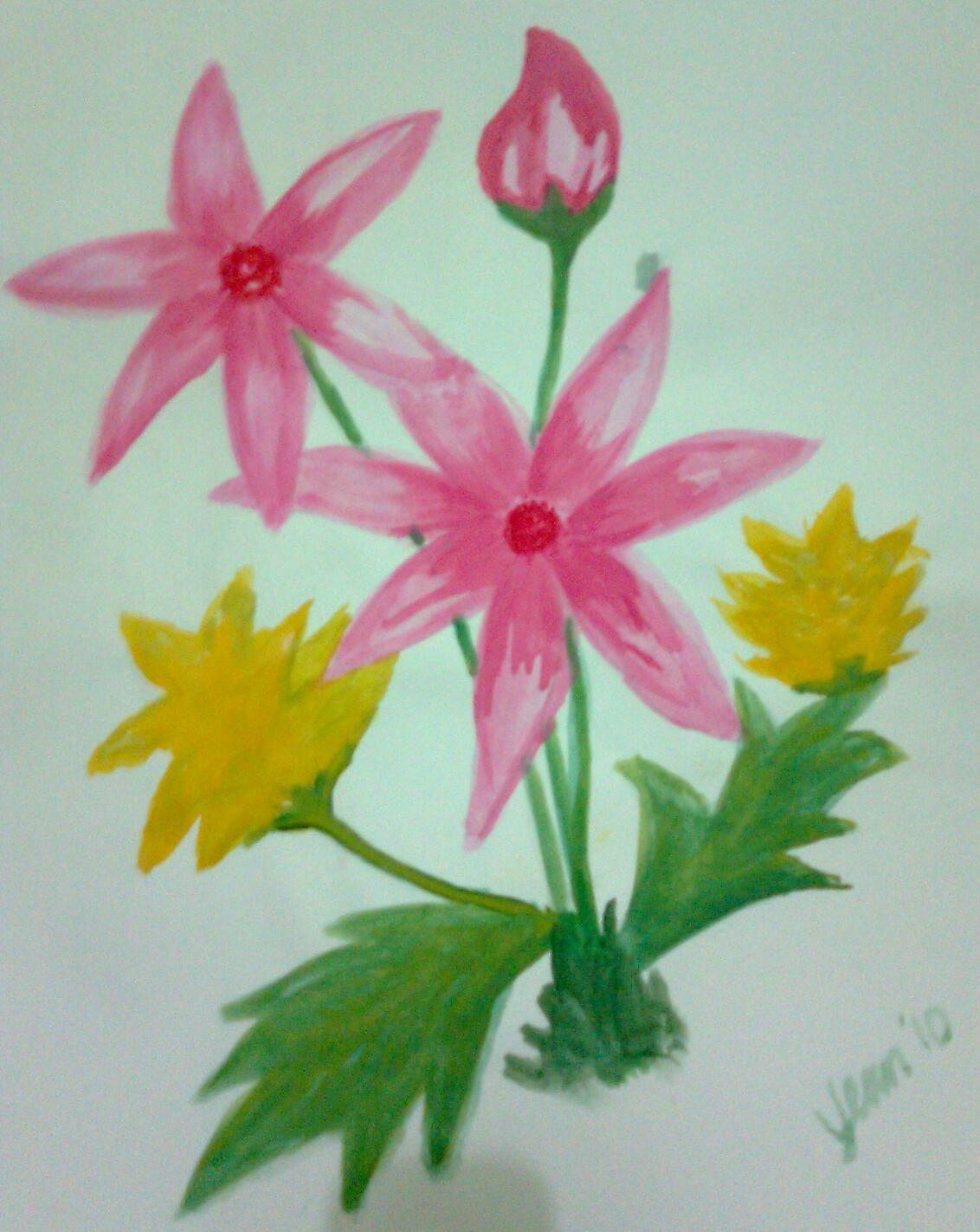 Contoh Gambar Lukisan Bunga Dengan Cat Air Brad Erva Doce Info