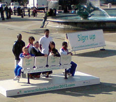 2012 Ticket sign-up launch, Trafalgar Square