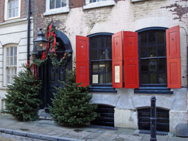 Dennis Severs' House, in its Christmas finery
