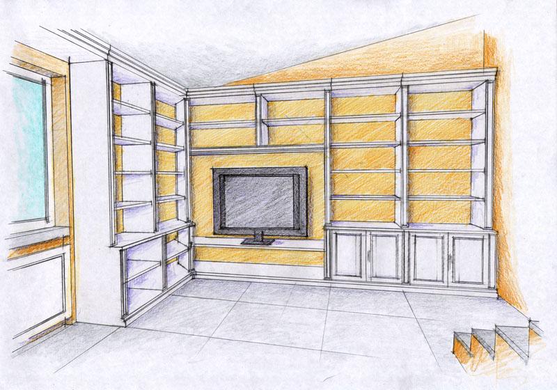 Vent 39 anni di disegni dell 39 arch antonio saporito disegno for Disegnare interni