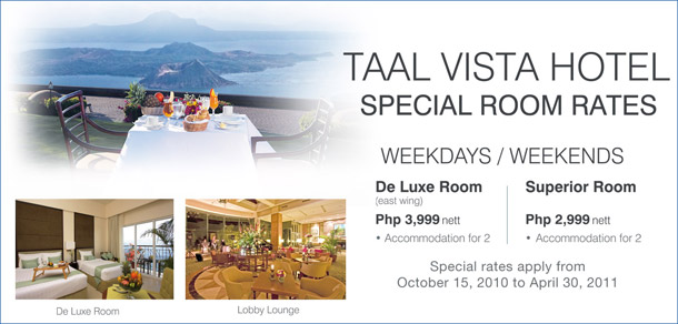 Taal Vista Hotel Room Rates
