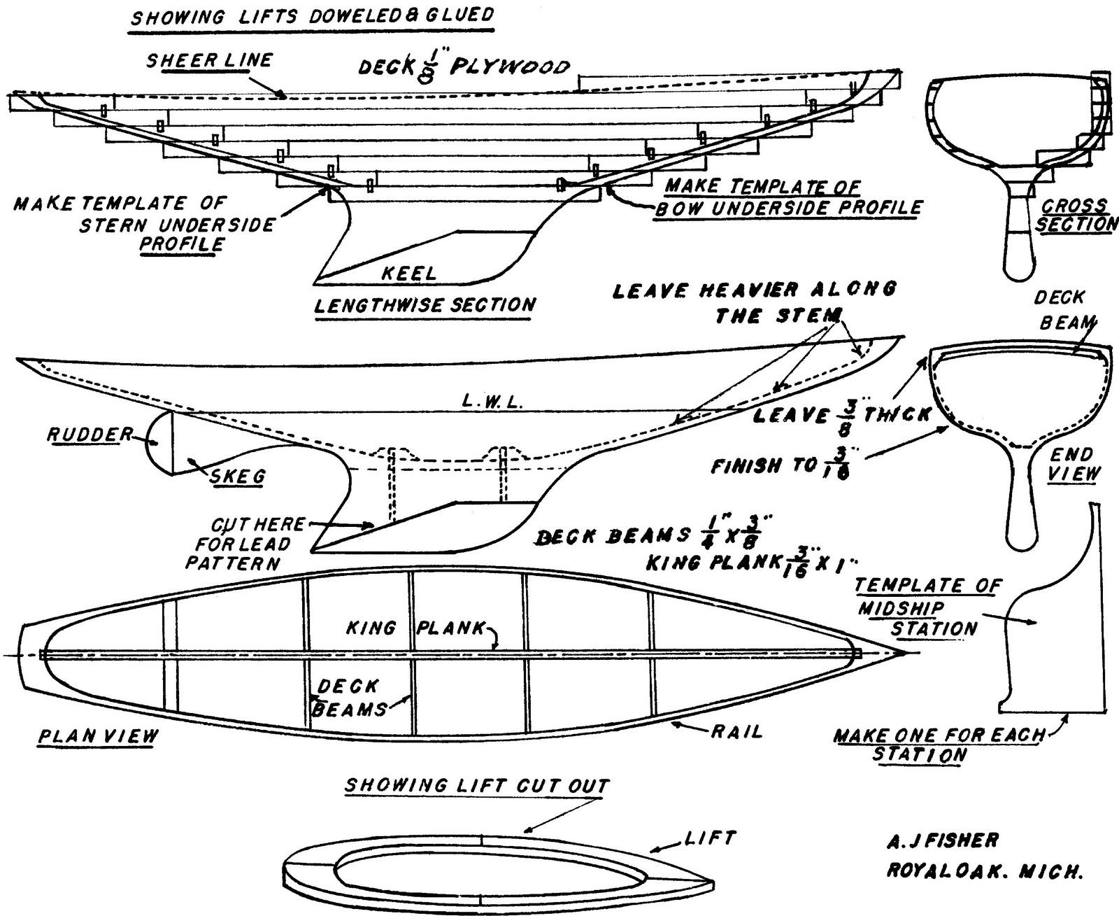 Quinze marins sur le bahut du mort...: Plan Voilier de Bassin
