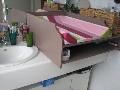 miss sa cha une table langer sur mesure. Black Bedroom Furniture Sets. Home Design Ideas