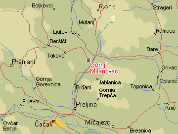 gornji milanovac mapa Per@ Travel: GORNJI MILANOVAC gornji milanovac mapa