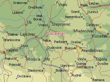 mapa srbije lazarevac Per@ Travel: LAZAREVAC mapa srbije lazarevac