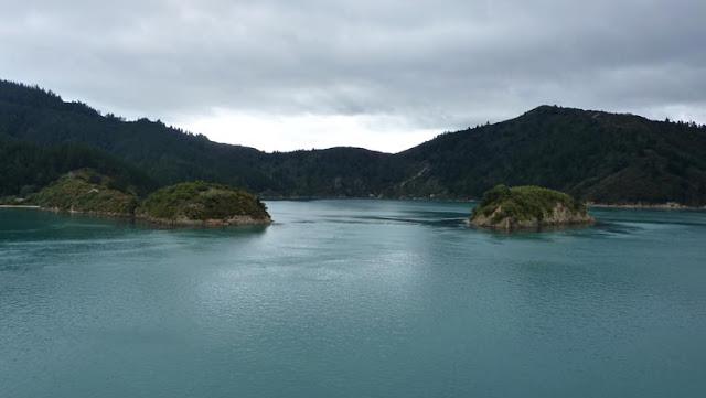 Fotografía con los fiordos de Marlborough al fondo