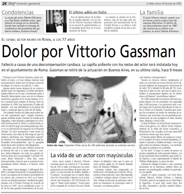 Resultado de imagen para MURIO VITTORIO GASSMAN