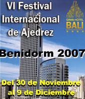Cartel del IV Festival Internacional de Ajedrez Benidorm 2007
