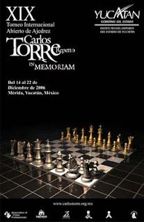 Cartel del XIX Torneo Internacional de Ajedrez Carlos Torre Repetto