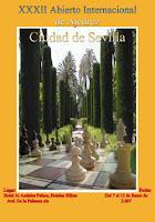 Cartel del Torneo Abierto de Ajedrez Ciudad de Sevilla