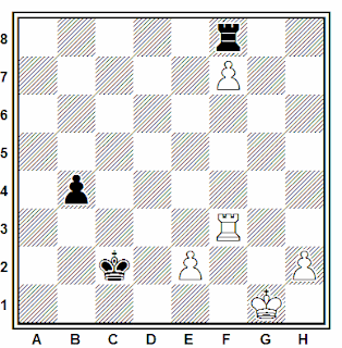 Posición de la partida de ajedrez Shulgin - Goldis (URSS, 1982)