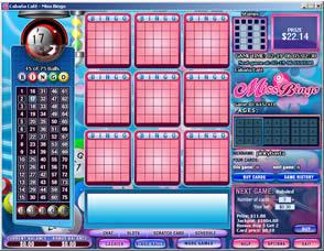 Jugar al bingo apostando en Miss Bingo