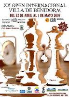 Cartel del XX Open Internacional de Ajedrez Villa de Benidorm