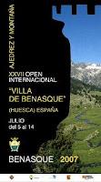 Cartel del XXVII Abierto Internacional de Ajedrez Villa de Benasque 1007