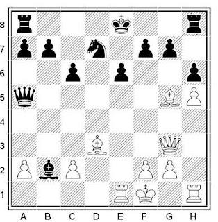Posición de la partida de ajedrez Rantanen - Bednarski (Suecia, 1982)