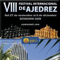 Cartel del VIII Festival Internacional de Ajedrez de Benidorm