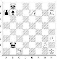Ejercicio de ajedrez basado en el mate de los árabes