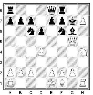 Posición de la partida de ajedrez Lemaire - Thibaut (Bruselas, 1951)