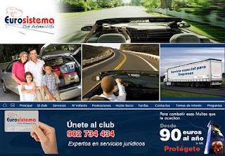 Eurosistema Club Automovilista recursos de multas y seguros del carné por puntos