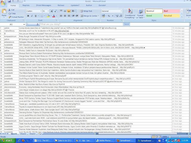 Spreadtweet - Ngetweet dari Microsoft Excel