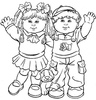 Cabbage Patch Kids Coloring Pages