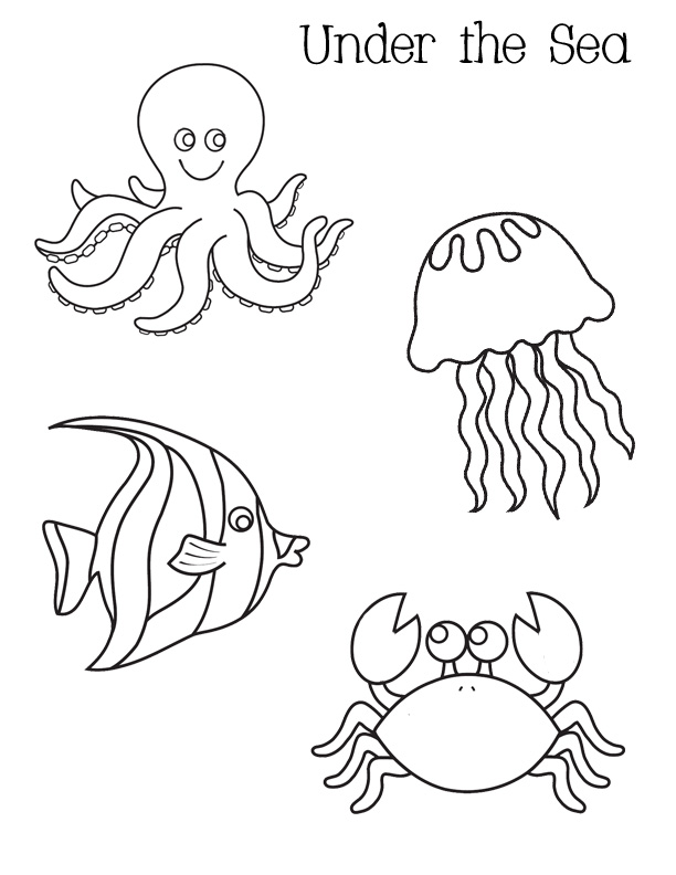 Coloring pages of under the sea coloring pages for free for Under the sea coloring pages for preschool