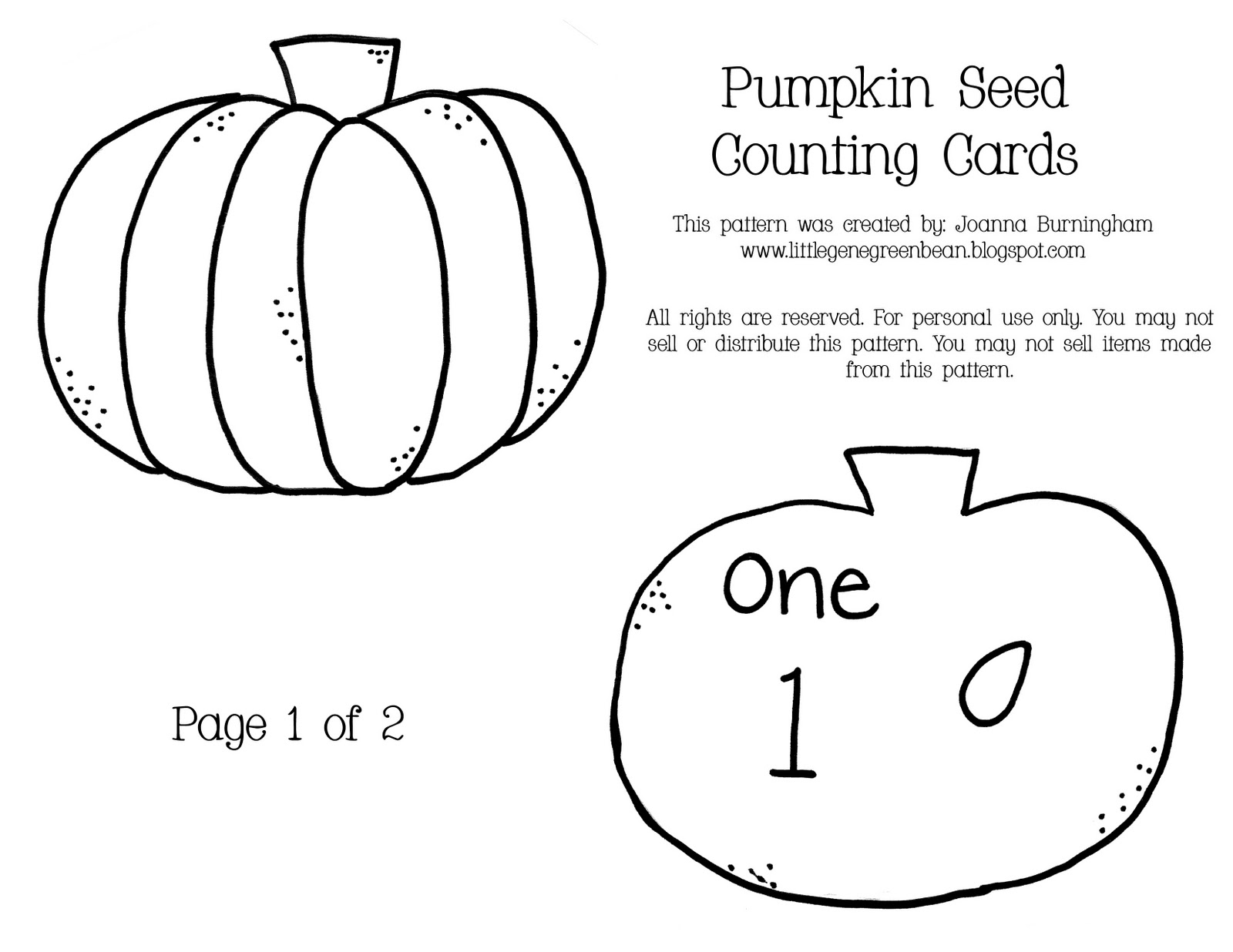 pumpkin seed coloring page - little gene green bean it 39 s pumpkin time unit 3