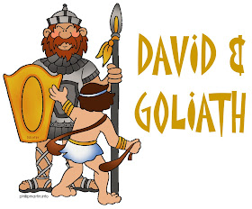 David and Goliath Coloring Page | David and goliath, Coloring pages, Goliath | 232x280