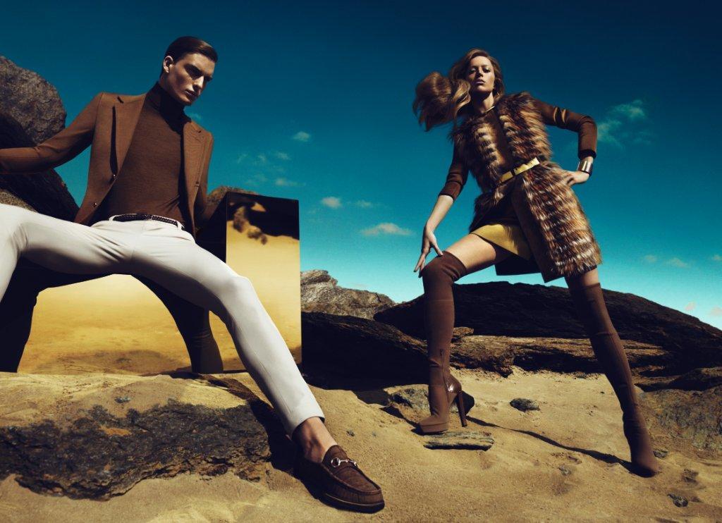 ec9f6cb968 Ad Campaign: Gucci Season: Fall Winter 2010. Models: Raquel Zimmermann   DNA,VIVA, Why Not  and Nikola Jovanovic  VIVA, Ford
