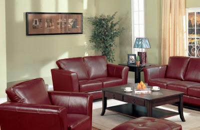 Sof rojo de qu color las paredes for Actualizar dormitorio clasico