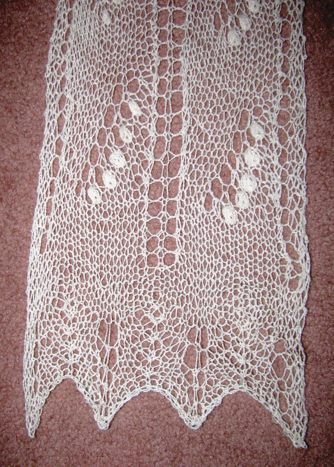 Yarn Over Knit 2 Together Joyelli Scarf