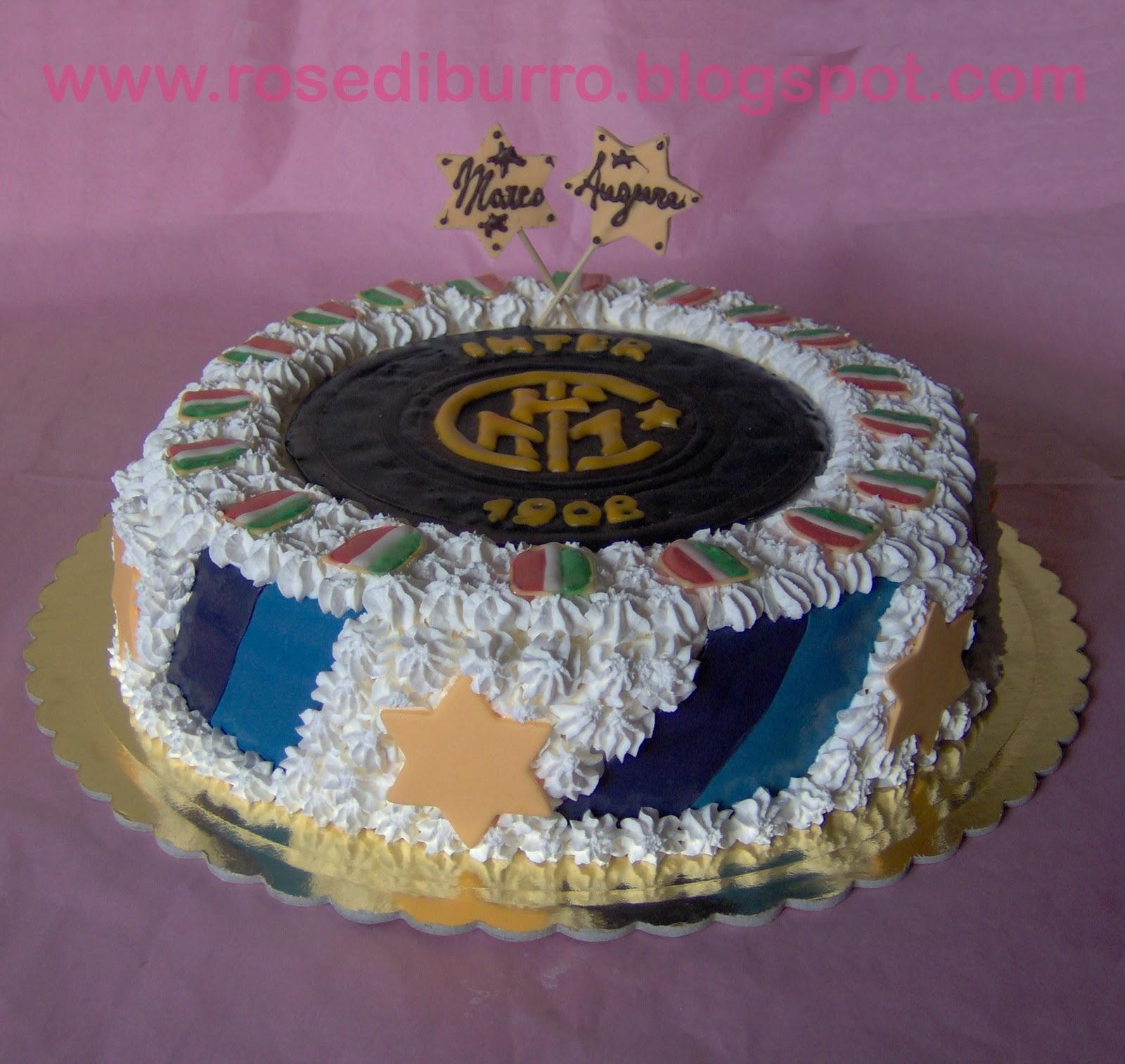 Conosciuto Rose di Burro: La Torta Inter FG57