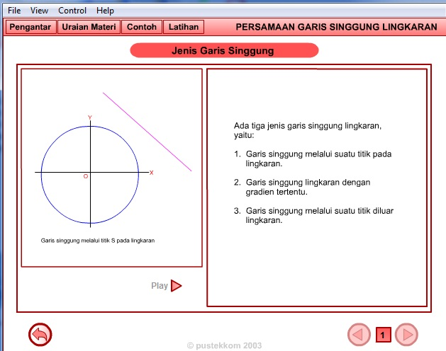 Animasi Matematika Persamaan Garis Singgung Lingkaran