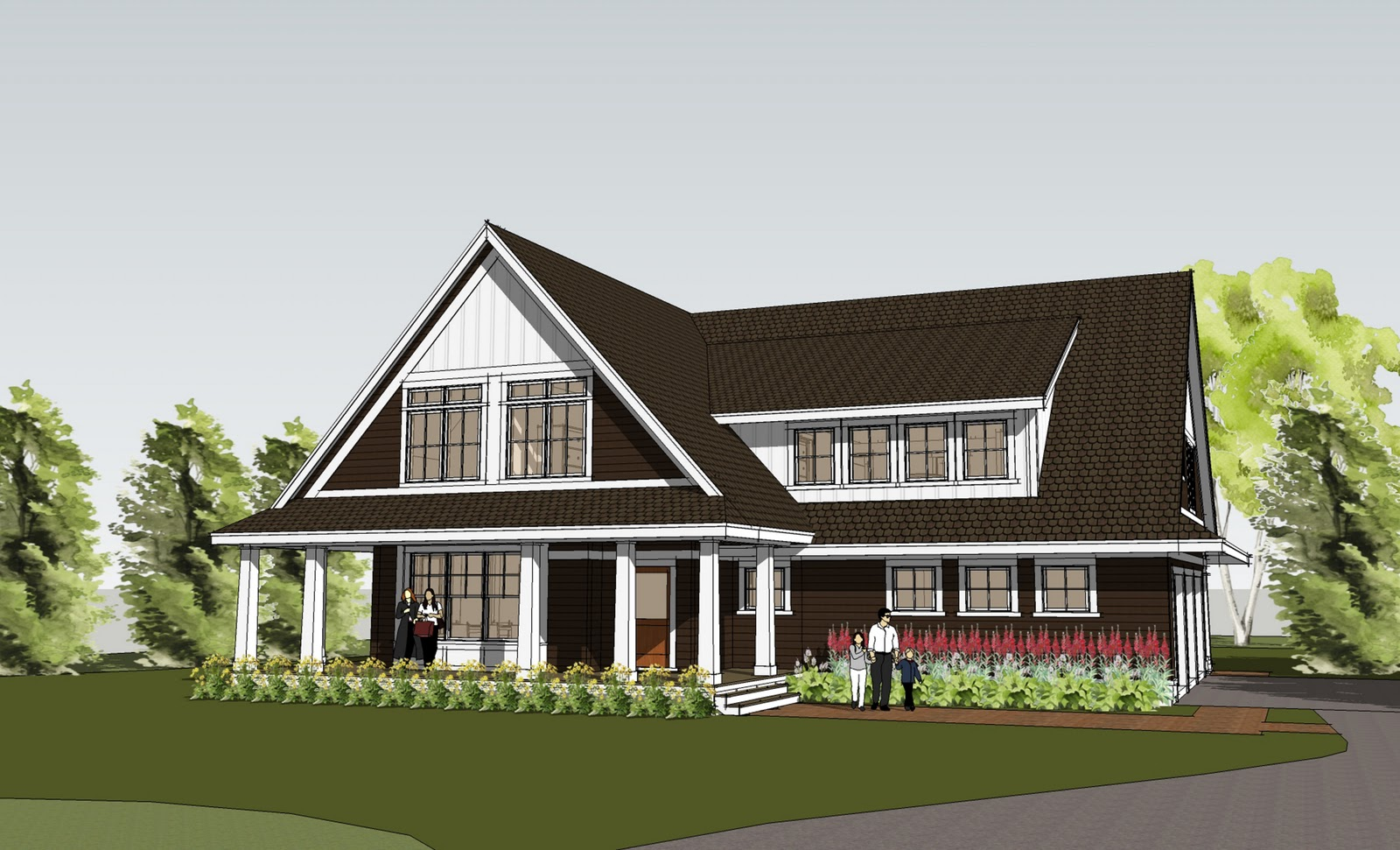 Simply elegant home designs blog new simple yet dramatic for Elegant farmhouse plans