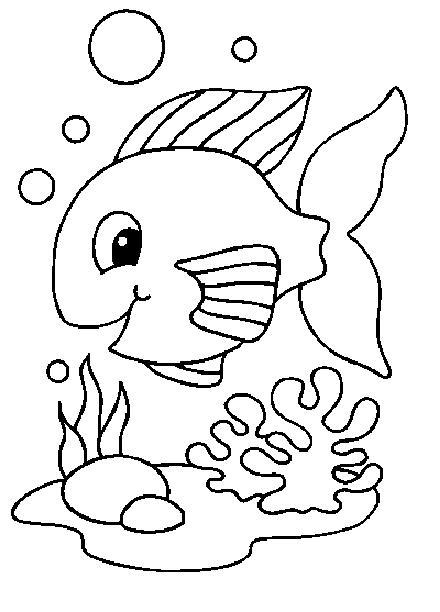 Titulo: Dibujo de peces para colorear