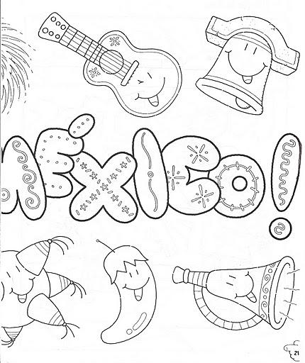 Dibujos Del 15 De Septiembre Para Colorear Campana De