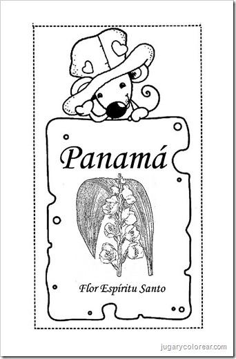 Titulo: Dibujos para colorear símbolos patrios de Panamá
