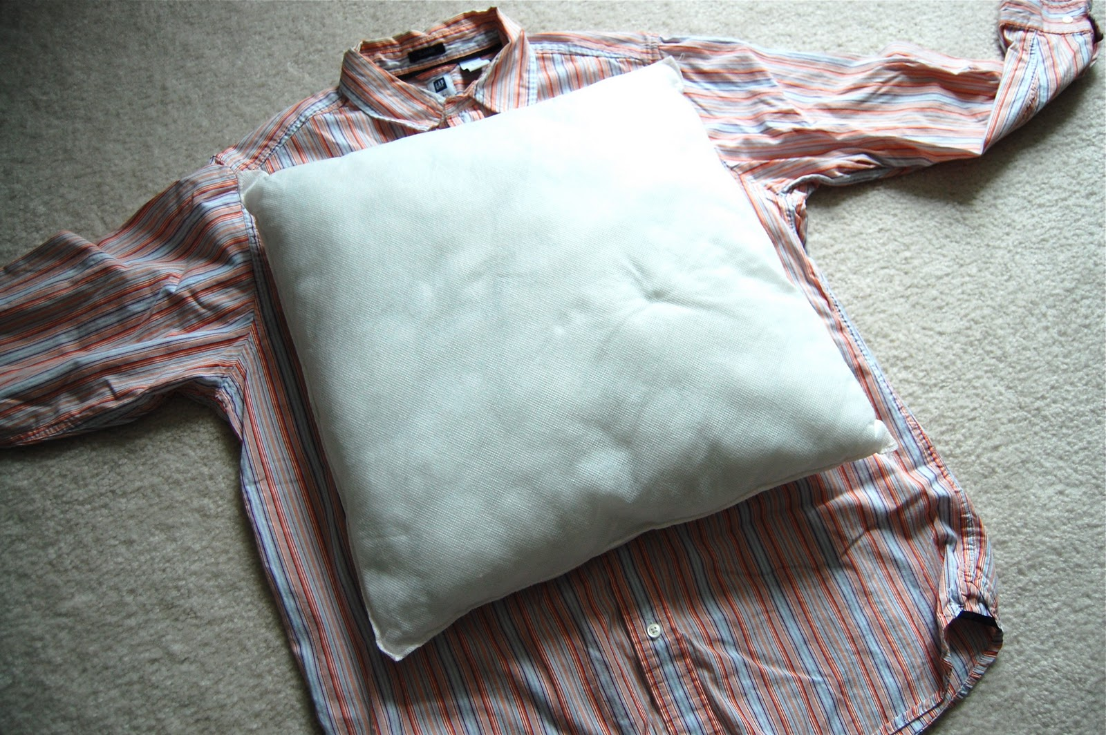 1.) Lay Your Pillow Down On The Shirt Under The Collar