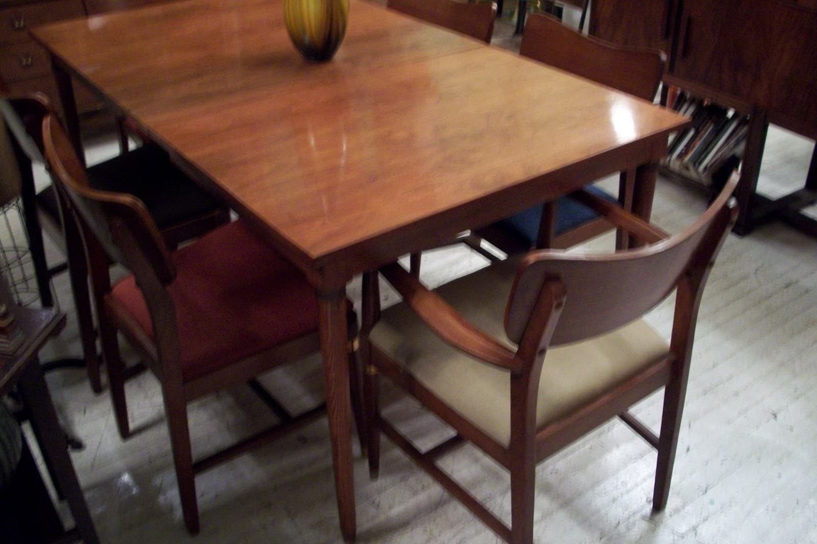 an orange moon sears roebuck mid century modern dining room set. Black Bedroom Furniture Sets. Home Design Ideas