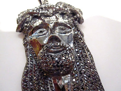 Black Jesus Pendant