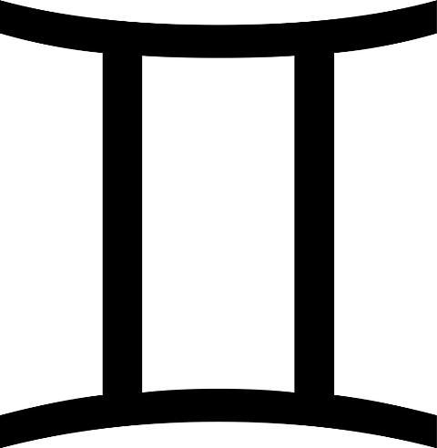 gemini symbol tattoo ~ tattoo design II