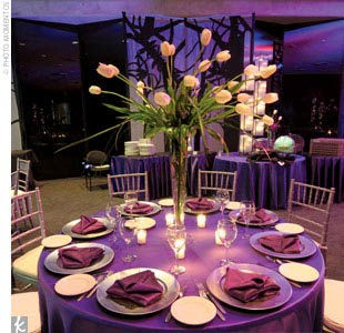 Hawaiian Island Wedding Planners Purple And Silver Color