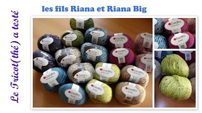 fils à tricoter Riana et Riana Big Gedifra